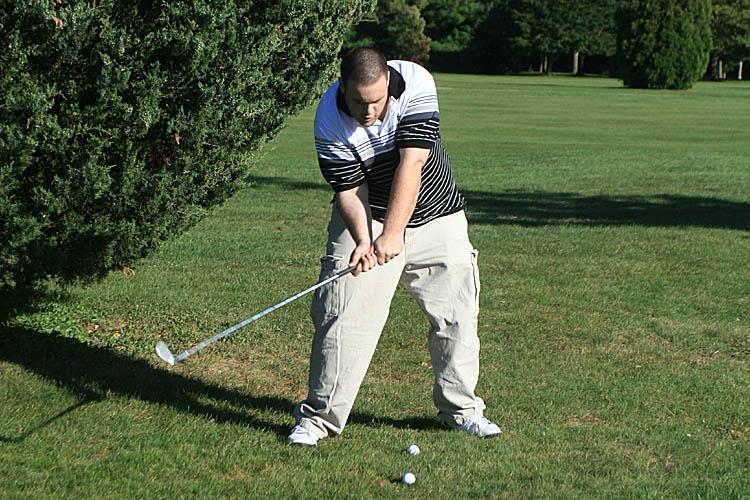 Sometimes golf looks more like hockey. :-)