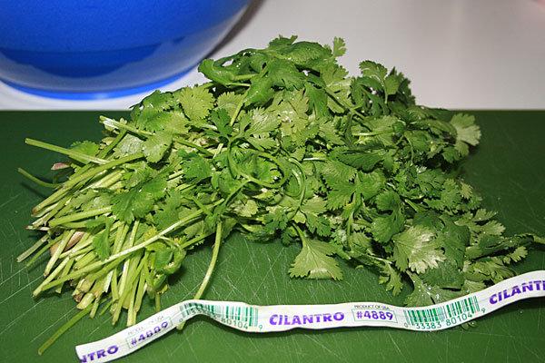 4. Chop cilantro