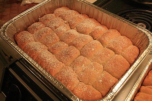 Czech buchty - Czech sugar buns
